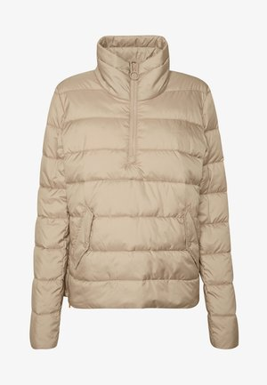 LIGHT FAKE ZIPPER ZIPPER - Light jacket - nordic beige