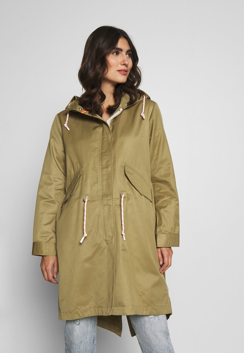 Marc O'Polo DENIM - OVERSIZED SPECIAL HOOD SPECIAL DRAWSTRING - Parka - bleached olive