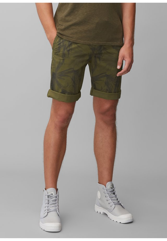 Shorts - multi/palm leaf green