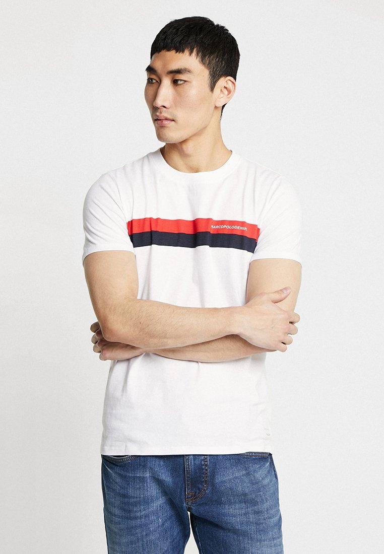 Marc O'Polo DENIM - SHORT SLEEVE SPORTY  - T-Shirt print - white