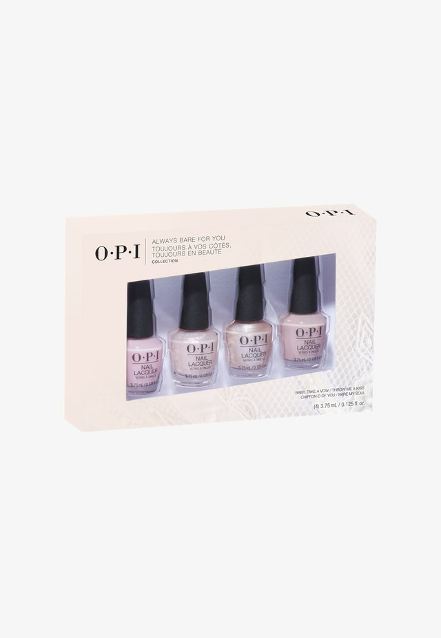 ALWAYS BARE FOR YOU 2019 SHEERS COLLECTION MINI PACK - Nagelverzorgingsset - dds35 always bare for you collection 4er mini set