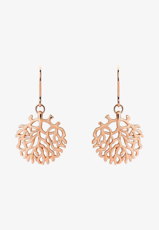 SATIN - Earrings - rose gold-coloured