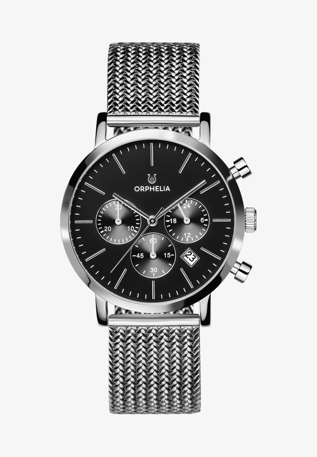 RETRO - Chronograaf - silver-coloured/black