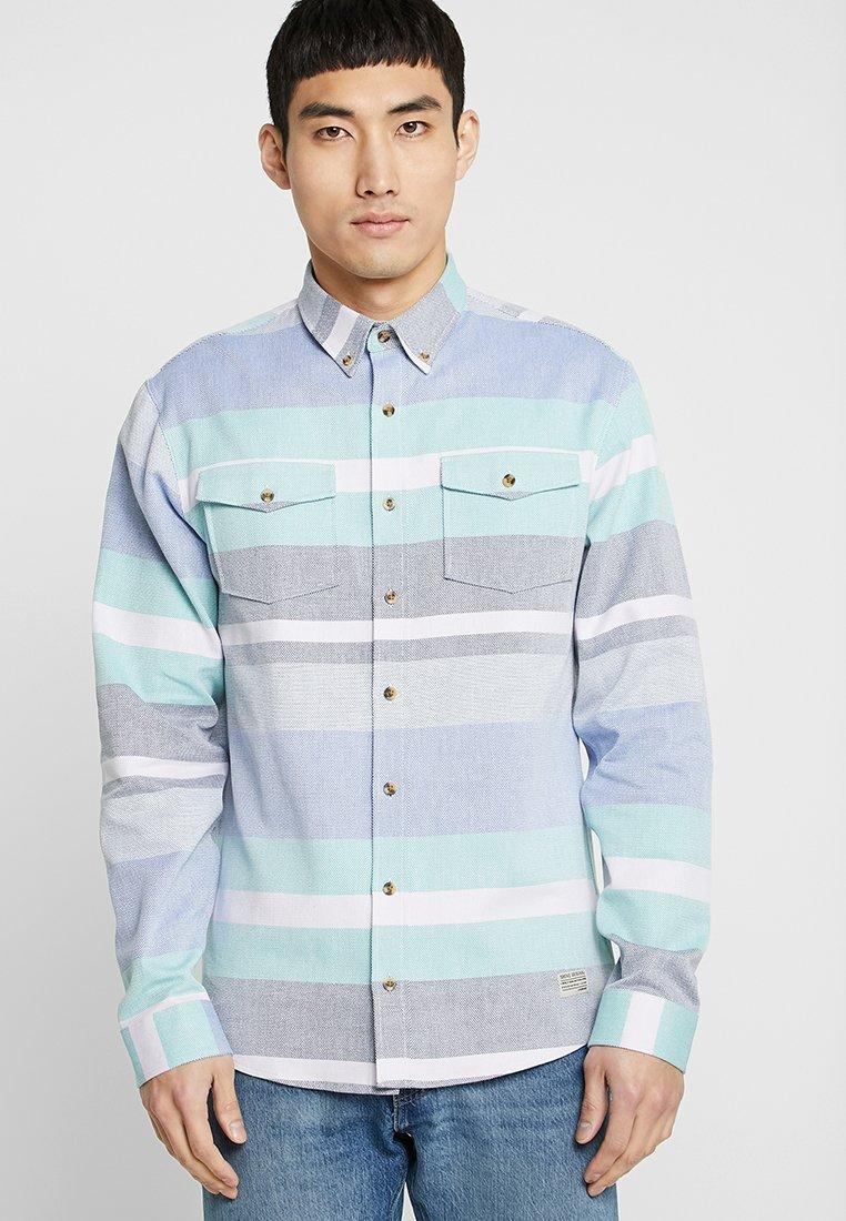 Shine Original - STRIPED OVERSHIRT - Shirt - blue