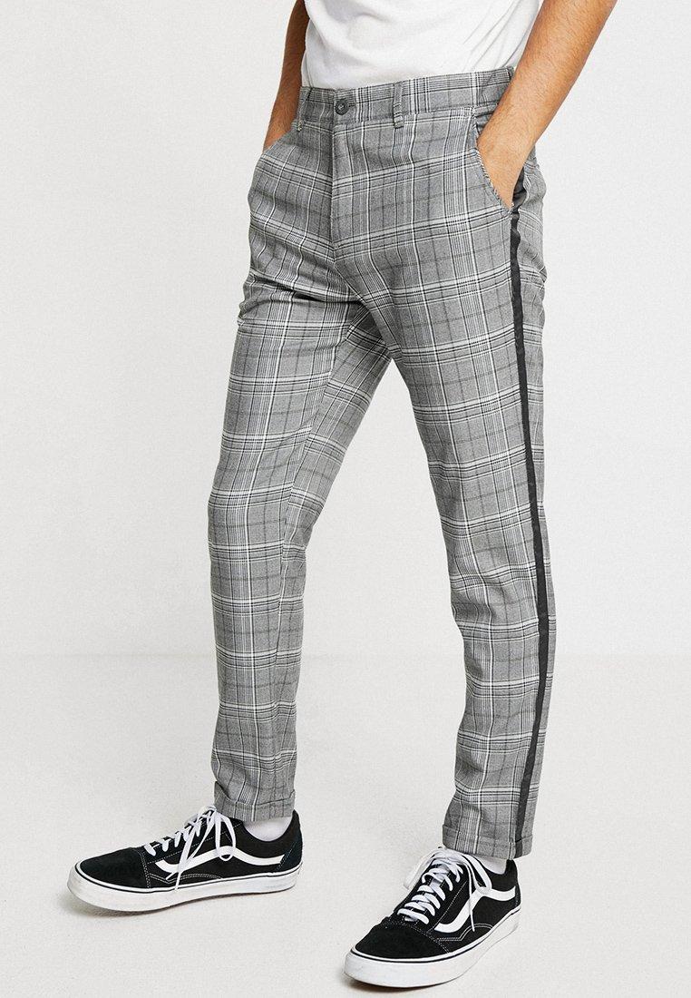 Shine Original - CHECKED PANTS - Chino - grey/white/black