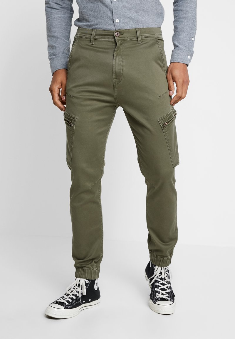 Shine Original - CURVED LEG PANTS - Cargo trousers - army