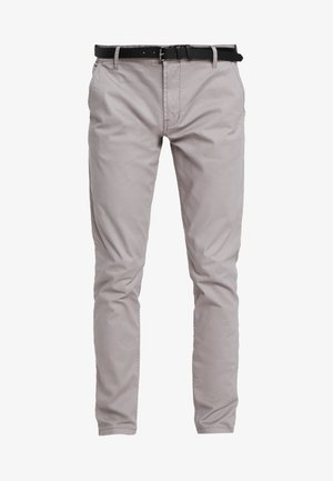 MENS STRETCH WITH BELT - Pantalones chinos - grey