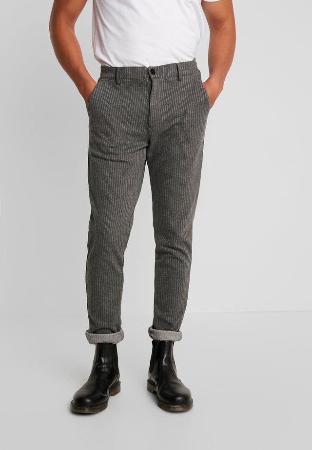 PANTS - Trousers - dark grey mix