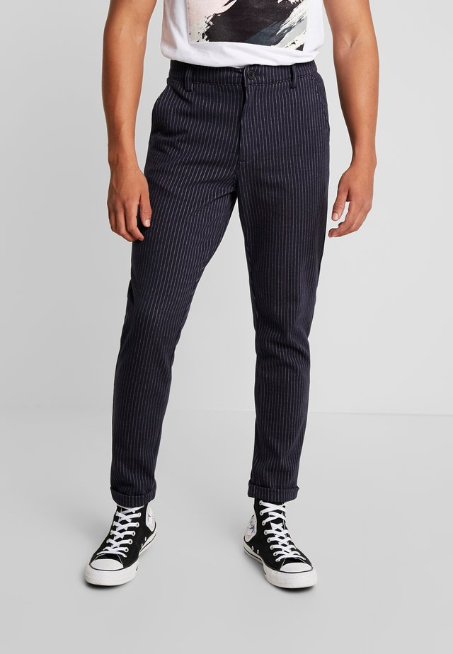 PANTS - Trousers - navy mix