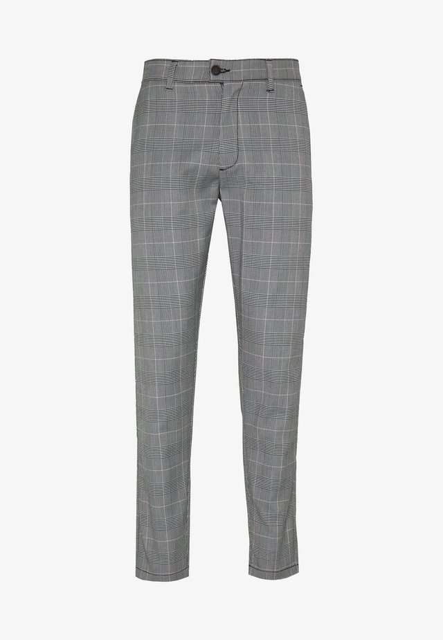 CHECKED CLUB TROUSERS - Trousers - grey