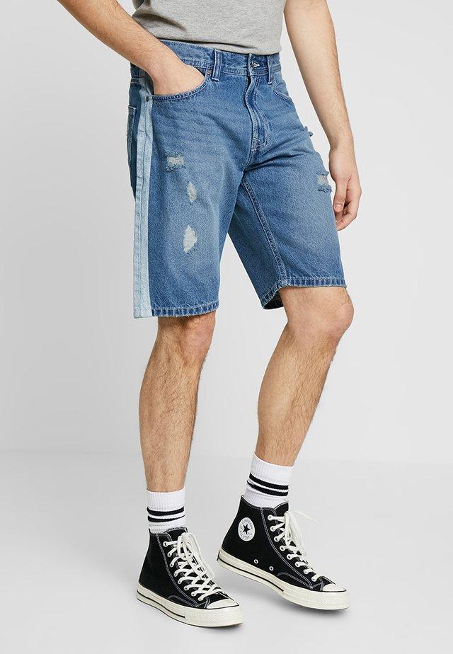 Denim shorts - mix blue