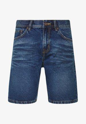 LOOSE FIT - Denim shorts - antique indigo
