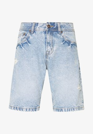 LOOSE FIT - Denim shorts - blue denim