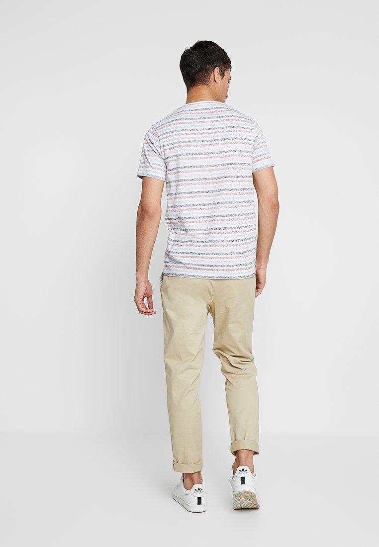 Navy Imprimé Mix TeeT Shine Stripe shirt Original BeWrdxCo