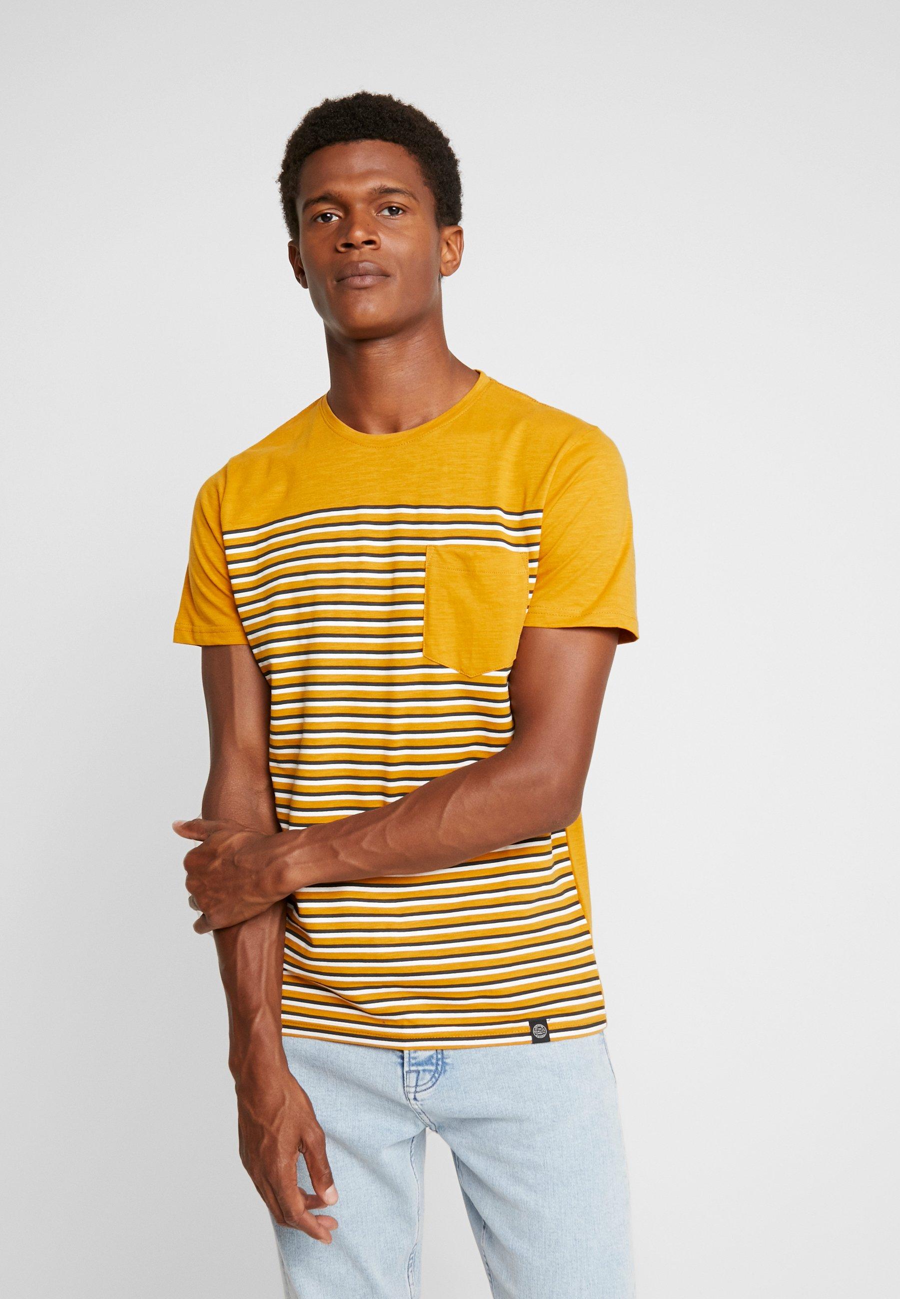 Shine Original TeeT Imprimé Pocket Camel Stripe shirt P0w8nkO