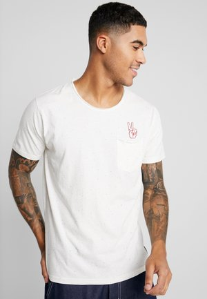 HAND EMBROIDERY TEE - T-shirt med print - off white
