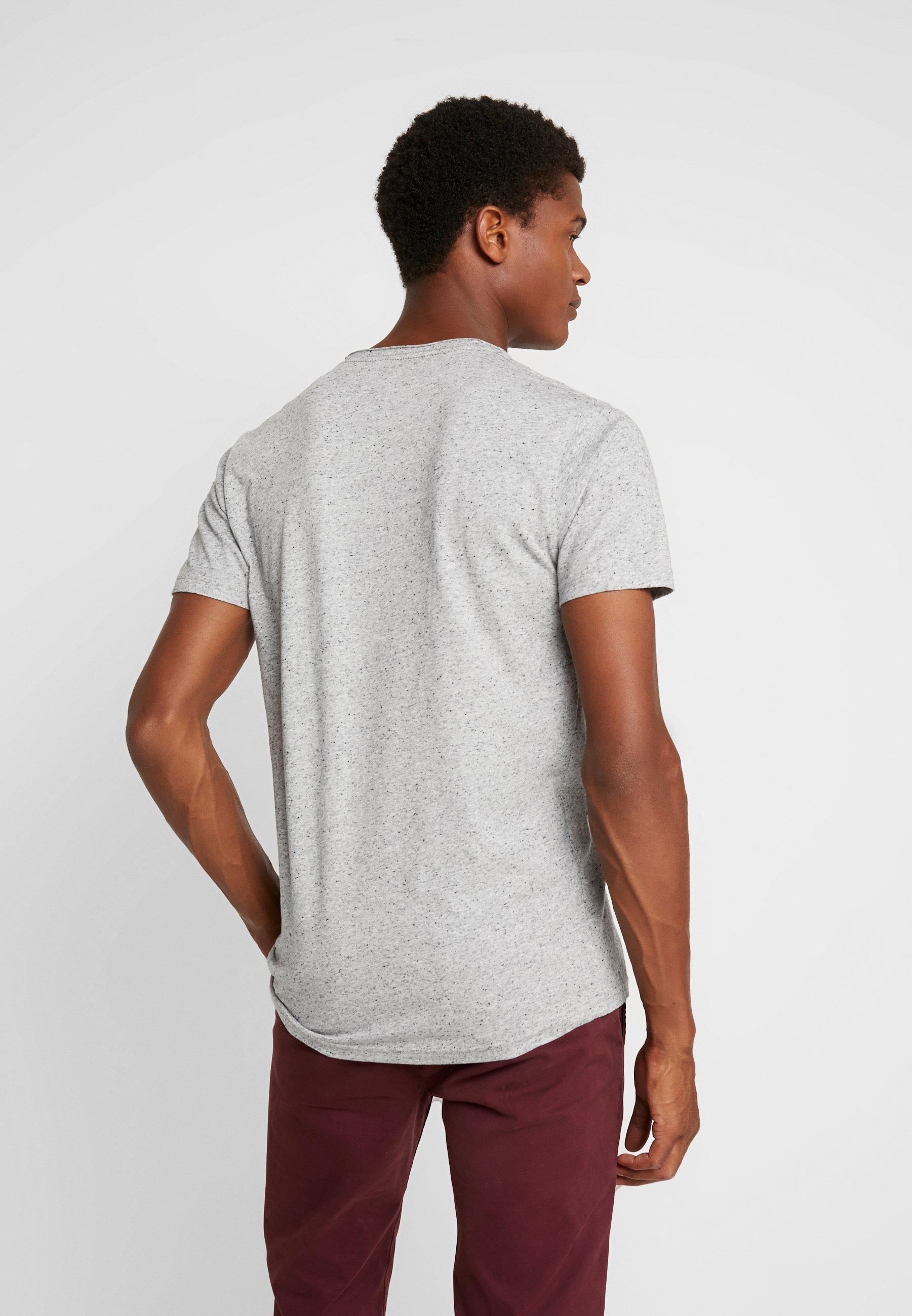 print TEET Shirt grey mix HAND Original EMBROIDERY Shine nwk08XOP