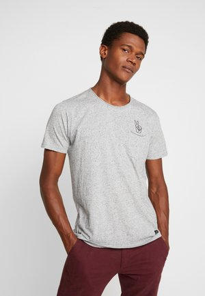 HAND EMBROIDERY TEE - T-shirt print - grey mix