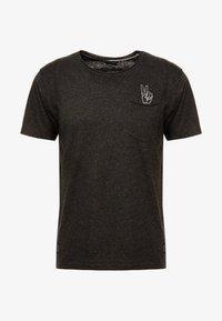 Shine Original - HAND EMBROIDERY TEE - T-shirts med print - black mix - 3