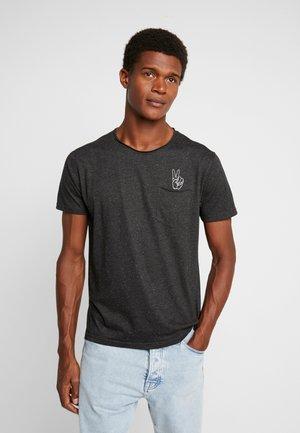 HAND EMBROIDERY TEE - Print T-shirt - black mix
