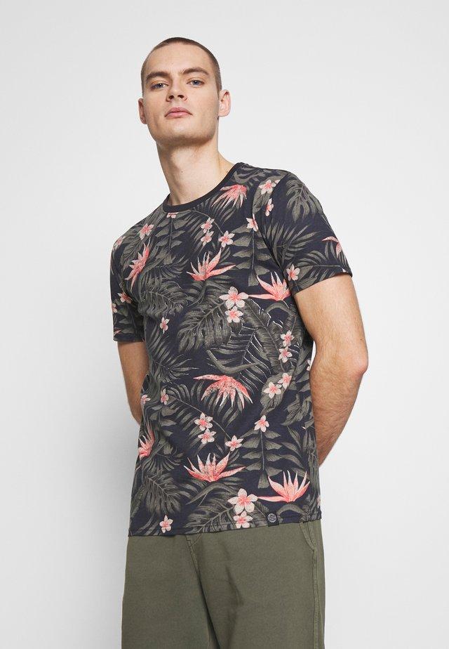 AOP TEE - Print T-shirt - dark blue