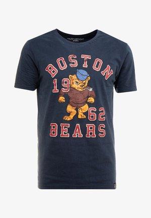 MASCOT PRINT TEE - T-shirt z nadrukiem - navy