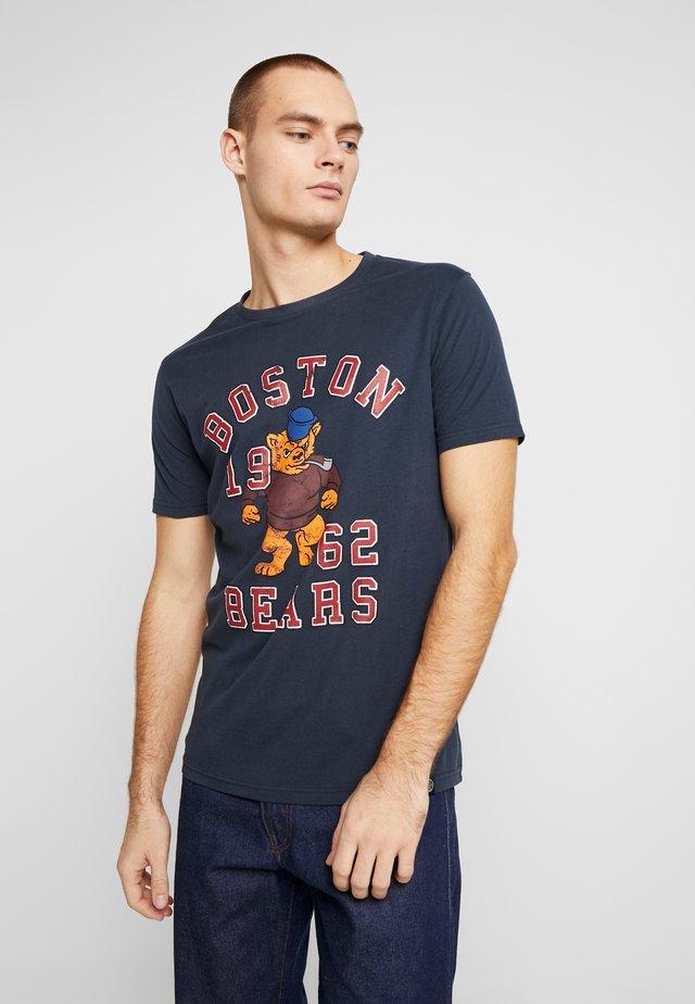 MASCOT PRINT TEE - Print T-shirt - navy
