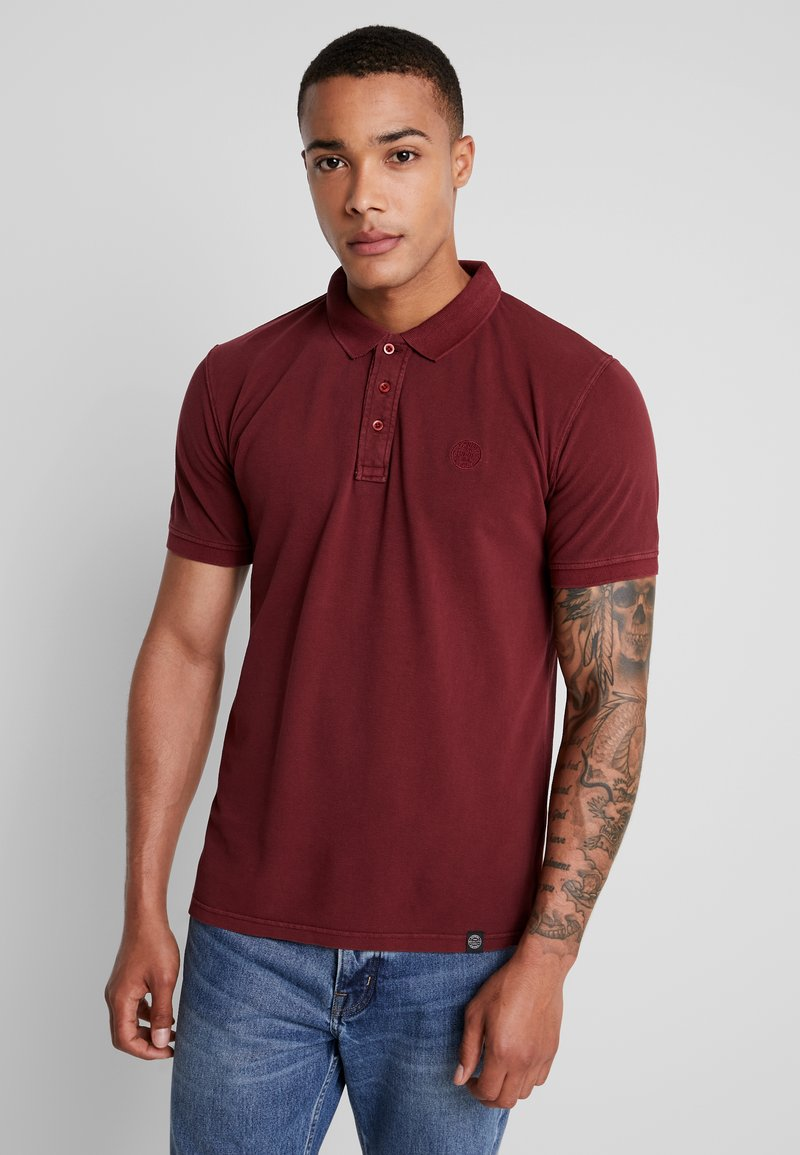 Shine Original - DYED AND WASHED OUT  - Polo shirt - bordeaux