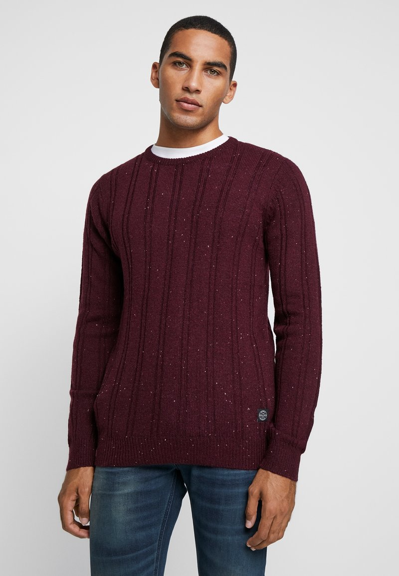 Shine Original - CREW NECK - Strickpullover - bordeaux