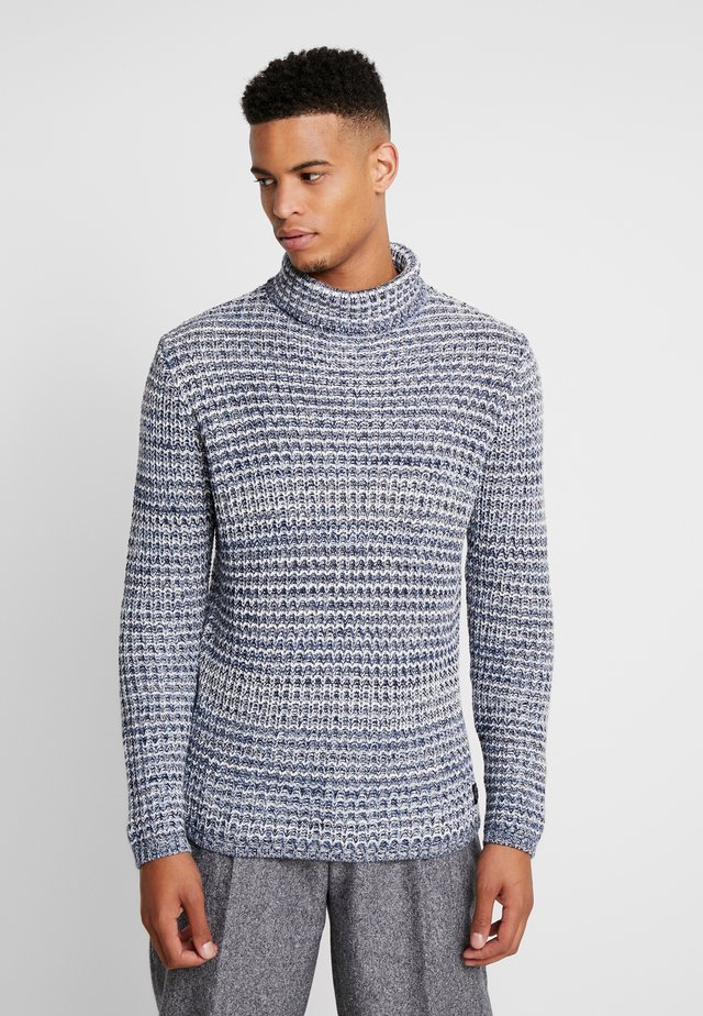 ROLL NECK CHUNKY - Jumper - blue mix