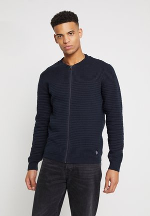 WAVE KNIT - Cardigan - navy