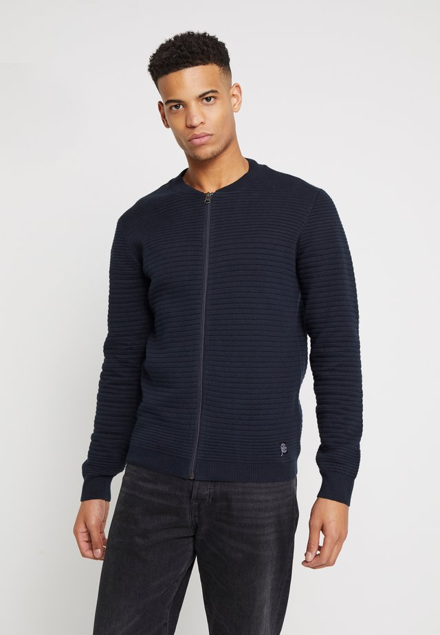 WAVE KNIT - Kardigan - navy