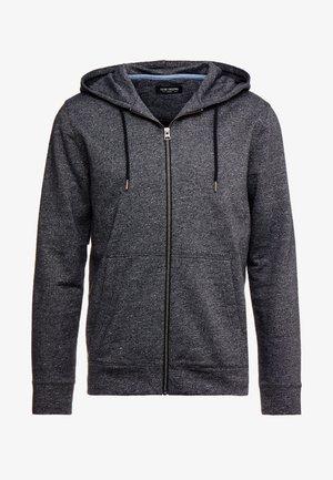 ZIP THROUGH HOOD - veste en sweat zippée - black mix