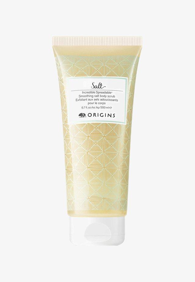 INCREDIBLE SPREADABLE SMOOTHING SALT BODY SCRUB 200ML - Körperpeeling - -