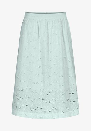 MIDIROCK MIT LOCHSPITZE - A-line skirt - aqua