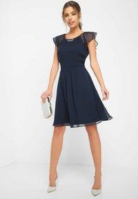 ORSAY - PARTYKLEID MIT SCHMUCKSTEINEN - Day dress - ink blue - 1
