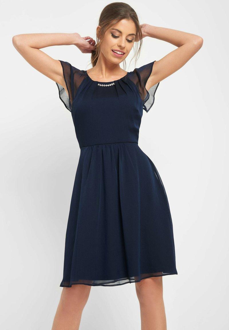 ORSAY - PARTYKLEID MIT SCHMUCKSTEINEN - Day dress - ink blue