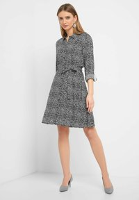ORSAY - MIT MUSTER - Shirt dress - black - 0