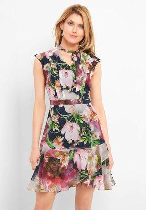 MIT BLUMENMUSTER - Day dress - tintenblau