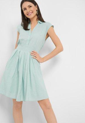 Shirt dress - aqua