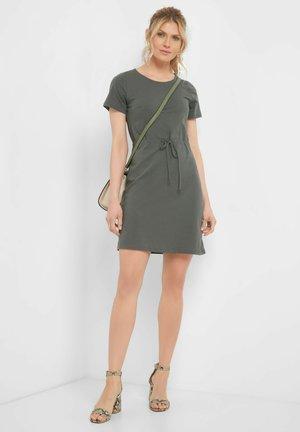 Jersey dress - dunkles khaki