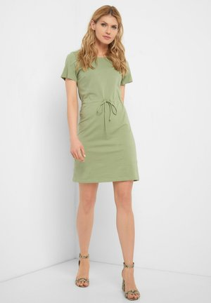 Jersey dress - helles khaki
