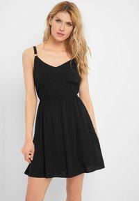 ORSAY - MIT V-AUSSCHNITT - Day dress - schwarz - 0