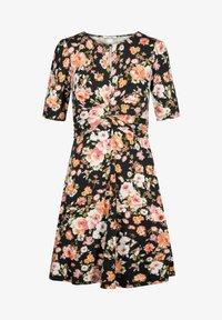 ORSAY - MIT BLUMENMUSTER - Jersey dress - schwarz - 4