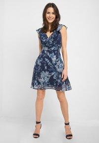 ORSAY - MIT MUSTER - Day dress - tintenblau - 0