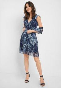 ORSAY - MIT MUSTER - Day dress - tintenblau - 1