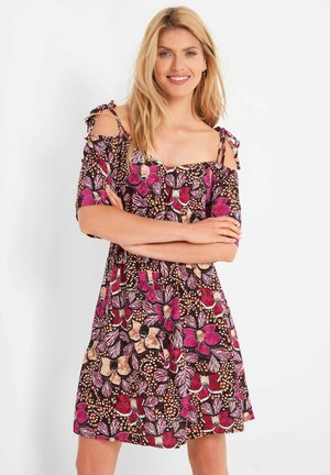 SOMMER-BLUMENKLEID - Day dress - leuchtrosa