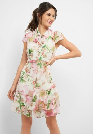 KLEID MIT BLUMENMUSTER - Day dress - wolkengrau