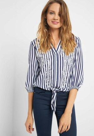 STICKEREI - Button-down blouse - tintenblau