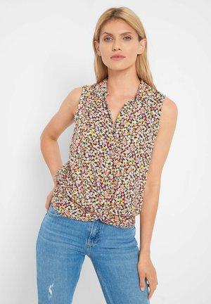 MIT BLUMENMUSTER - Button-down blouse - rosa